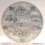 Click here to enlarge image and see more about item plthwrmsm3: Eisenhower Museum vintage collector plate