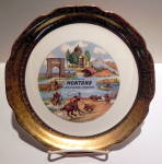 Click here to enlarge image and see more about item pltmntn4: Montana state vintage collector plate