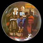 Click here to enlarge image and see more about item pltnree4: Norman Rockwell plate 'Evening Ease'