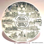 Click here to enlarge image and see more about item pltrvrclf1: Riverside Centennial, California collector plate 1970