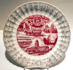 Click here to enlarge image and see more about item pltutah3: Utah state vintage collector plate