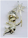 Click here to enlarge image and see more about item pnchst2: Christmas Angel Star pin brooch