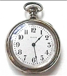 Click here to enlarge image and see more about item pw3: Antique Elgin Silveroid vintage pocket watch