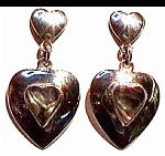 Abalone hearts sterling silver earrings