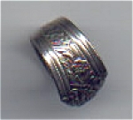 Click here to enlarge image and see more about item sjsp3a: Vintage Silverplate Spoon Ring