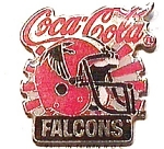 Click here to enlarge image and see more about item spm3: Coca Cola Falcons vintage football pin