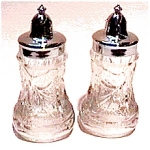 Click here to enlarge image and see more about item sps11: Crystal or Glass Salt and Pepper Shaker Set