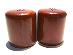 Click here to enlarge image and see more about item sps43: Vintage wood salt & pepper shakers