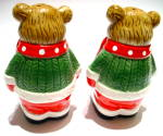 Click to view larger image of Christmas Bears vintage salt and pepper shakers (Image3)