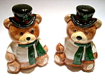 Click here to enlarge image and see more about item spscb2: Christmas Bears vintage salt and pepper shakers