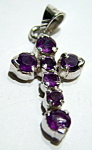 Click to view larger image of Sterling silver amethyst cross pendant (Image1)