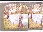 Click here to enlarge image and see more about item stv8: Trout Fishing...Upper Columbia River stereo view