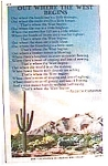 Click here to enlarge image and see more about item uspc12: Vintage California mountains and desert postcard