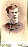 Click to view larger image of Young Man vintage Carte de Visite photo (Image1)