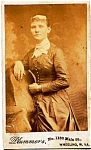 Click here to enlarge image and see more about item vph18a: Young Woman vintage Carte de Visite photo