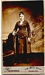 Click here to enlarge image and see more about item vph19a: Young Woman vintage Carte de Visite photo