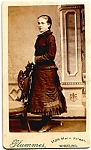 Young Woman Standing vintage Carte de Visite photo