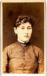Click to view larger image of Young Woman vintage Carte de Visite photo (Image1)