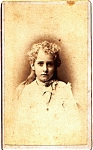 Click here to enlarge image and see more about item vph23: Young Girl vintage Carte de Visite photo
