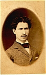 Young Mustache Man vintage Carte de Visite photo