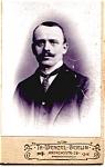 Click to view larger image of Mustache Man vintage Carte de Visite photo (Image1)