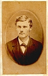 Click to view larger image of Mustache Man vintage Carte de Visite photo (Image1)