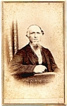 Goatee Man vintage Carte de Visite photo