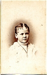 Click to view larger image of Young Child vintage Carte de Visite photo (Image1)