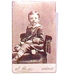 Click to view larger image of Young Boy vintage Carte de Visite photo (Image1)