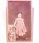 Little Girl in Pink vintage Carte de Visite photo