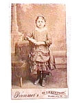 Click here to enlarge image and see more about item vph8: Young Girl Standing Photograph