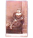 Young Girl vintage Carte de Visite photo