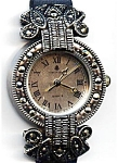 Click here to enlarge image and see more about item wwlmarc23: Dejuno marcasite lady's quartz wristwatch