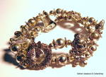 Click to view larger image of Christmas Santa Snowman Angel Bell bracelet (Image2)