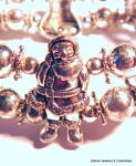 Click to view larger image of Christmas Santa Snowman Angel Bell bracelet (Image5)