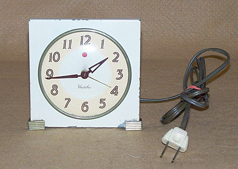 Vintage Westclox Logan Salesman's Sample Electric Alarm