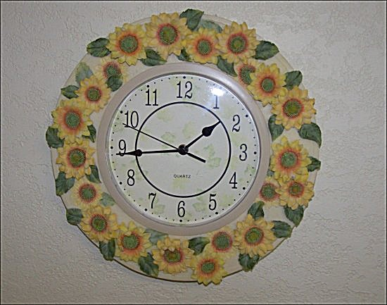 Unique Sunflower Wall Clock (Image1)