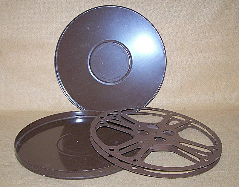Large 13.75 Inch 16mm Metal Movie Film Reel w/Can (Image1)
