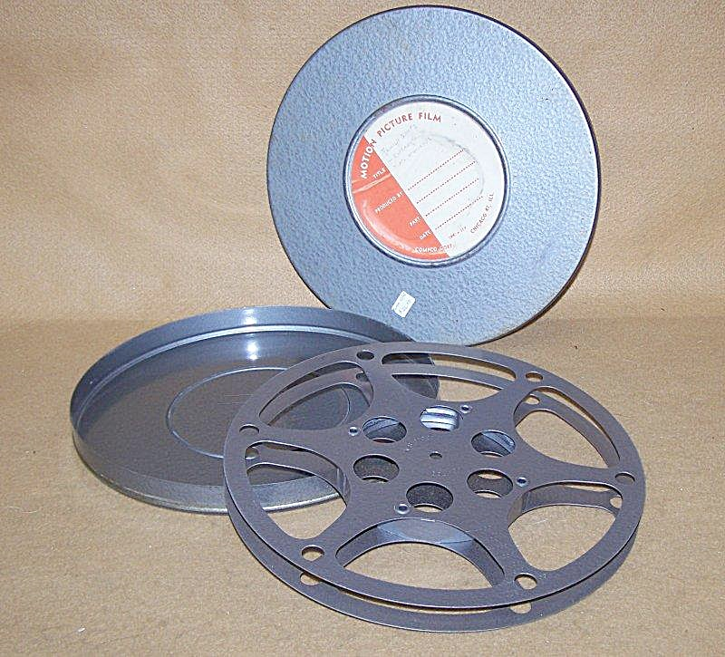 10 Inch 16mm Movie Film Empty Metal Reel W/can