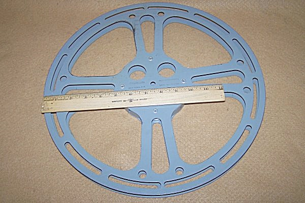 Very Large 2000 Ft. 15 Inch 16mm Metal Movie Film Reel