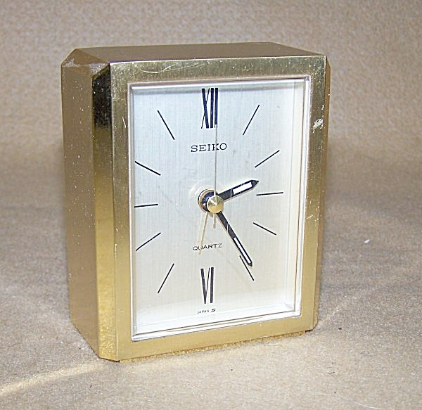 Vintage Seiko Brass Carriage Alarm Clock 1901