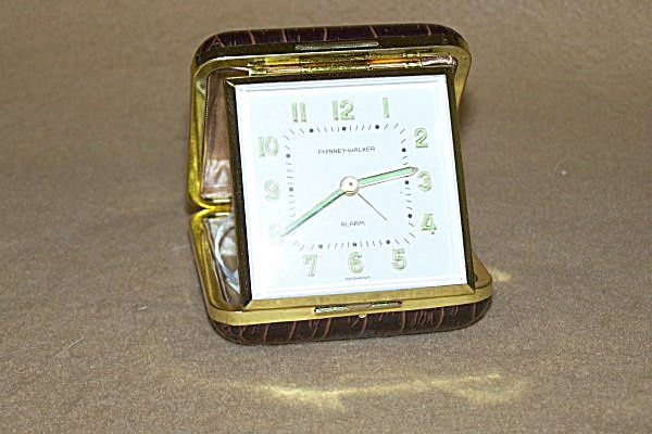 Vintage Phinney-walker Travel Alarm Clock 2169