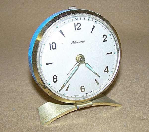 Retro Sky Blue Blessing Alarm Clock