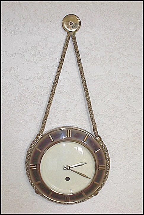 Vintage Western Rope Wall Clock & Barometer Set (Image1)