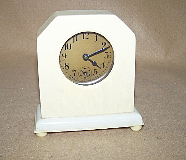 1920's Celluloid 30-hour Table Clock 2382