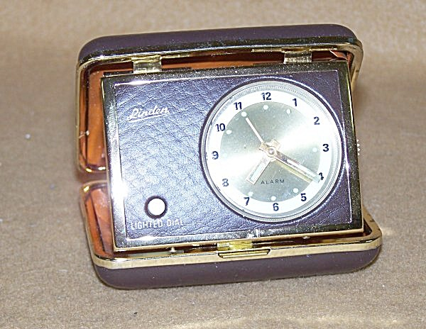 Linden Travel Alarm Clock With Flashlight