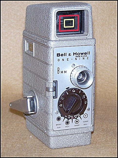 Bell & Howell 8mm Movie Camera Mod One-nine W/case