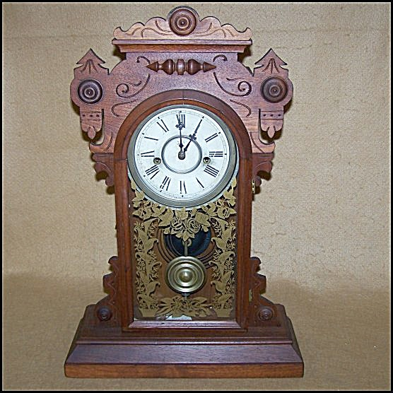 Antique 1905 Waterbury Gingerbread Chiming Clock (Image1)