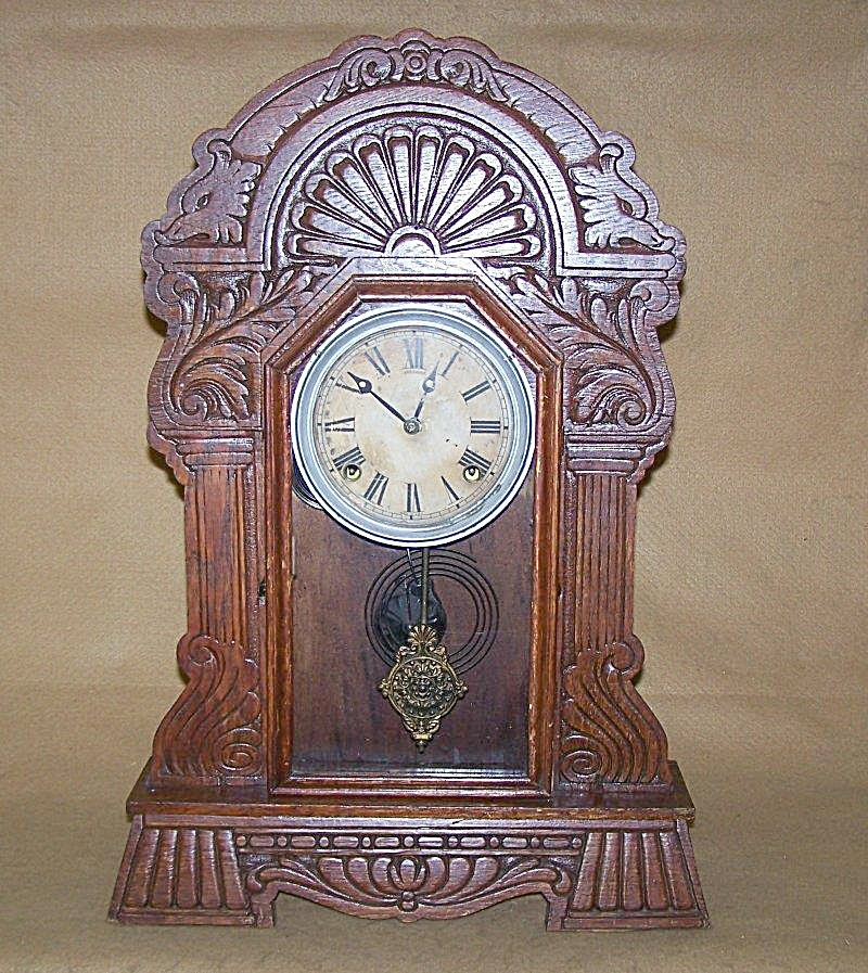 Antique 1908 Sessions Ornate Gingerbread Clock