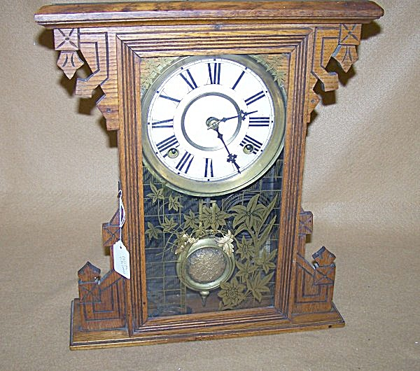 Antique 1890's Gingerbread Chiming Clock (Image1)